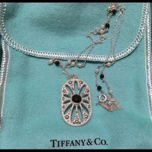 Tiffany&Co pearls/ black onyx necklace